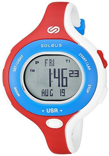 Soleus Chicked Women's 'Signature Series' Quartz Plastic Running Watch, Color:White (Model: SR009-665)