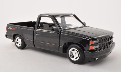 - Chevrolet Pick Up 454 SS, black, 1992, Modellauto, Ready-made, Motormax 1:24