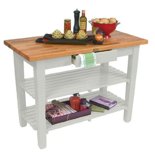 John Boos Oak Table (John Boos Oak Table Boos Block, 48 inch x 25 inch x 1-1/2 inch, Alabaster)