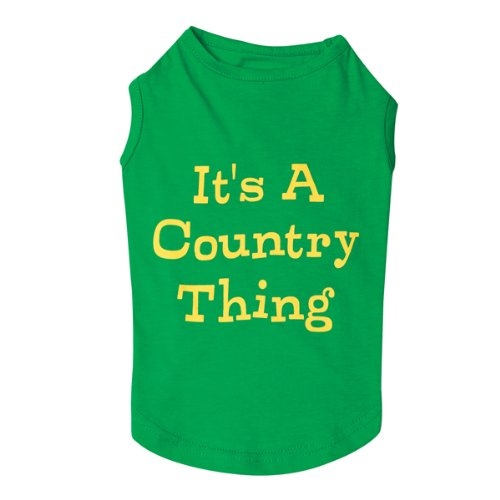 Zack and Zoey Cotton Country Thing Dog Tank Top, Small/Medium, Green, My Pet Supplies