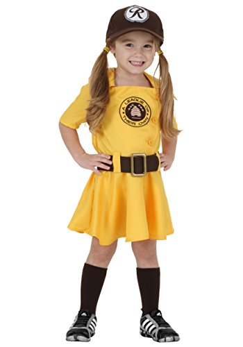 Toddler A League of Their Own Kit Costume 4T Yellow -