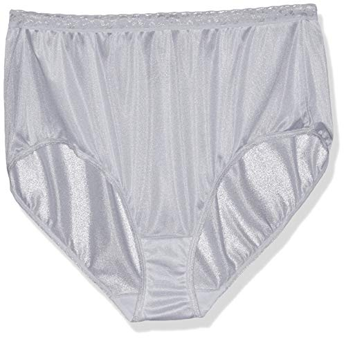 Just My Size Women's 5-Pack Nylon Brief Panties, Assorted, (Just My Size Cotton Panties)