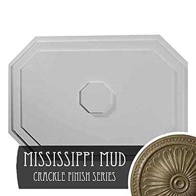 Ekena Millwork CM25FEACS 25-1/4 x 17-1/4 x 1-3/4 Felix Ceiling Medallion, Antique Copper
