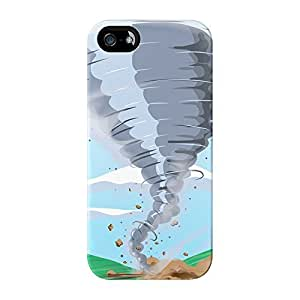 Tornado Full Wrap High Quality 3D Printed Case for iPhone 5 / 5s by Nick Greenaway + FREE Crystal Clear Screen Protector