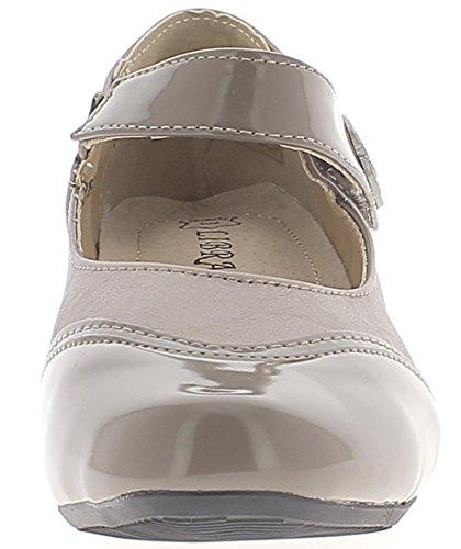 4 Absatz cm Grey ChaussMoi Komfortabel mit 5 kleinem Schuhe 7YpYxqvF