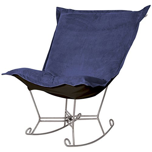 Howard Elliott 600-972 Scroll Puff Rocker with Titanium Frame, Bella Royal (Scroll Puff Chair Rocker)
