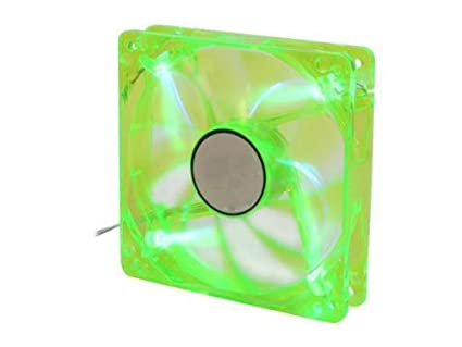 amazon com logisys cf120gn 120mm green 4 led pc computer case fan w