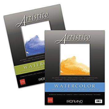 Fabriano Artistico 300 Pound Cold Press 4 Sheets 11x14'' - Extra White by Fabriano