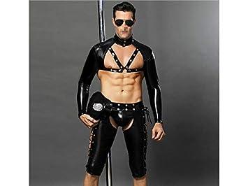 NqceKsrdfzn Personalidad Bar para Hombres Rendimiento Disfraz Discoteca Ropa Interior erótica Tentación Uniforme de policía (