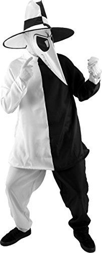 Adult White Spy Vs Spy Costumes (Morris Costumes SPY VS SPY BLK-WHITE SM-MD)