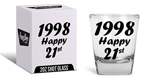 21st Birthday Gift Shot Glass - Best Drinking Birthday Gift Ideas - Celebrate Turning Twenty One With The Best -
