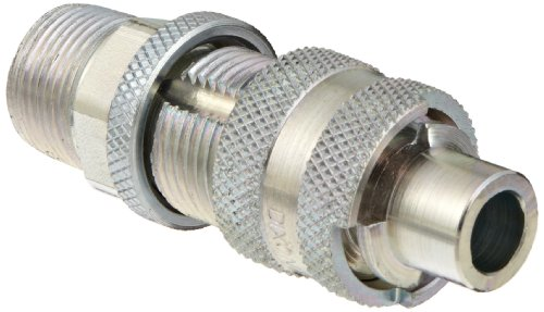 Dixon QM88 Plated Steel Dix-Lock Quick Acting Air Hose Fitting, 1/2'' Male Locking Head x 3/4'' NPT Male by Dixon Valve & Coupling