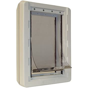 """Ideal Pet Products Ruff-Weather Pet Door with Telescoping Frame, Extra Large, 9.75"""" x 17"""" Flap Size"""