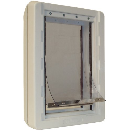 "Ideal Pet Products Ruff-Weather Pet Door with Telescoping Frame, Extra Large, 9.75"" x 17"" Flap Size"