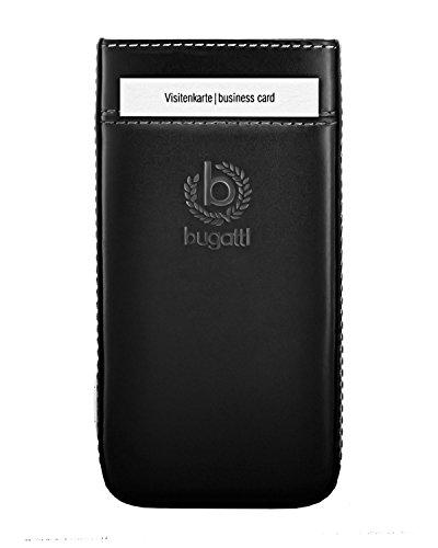 Bugatti Handy Leder Tasche Pure Premium - Schwarz - für Apple iPhone 6 iPhone 6S