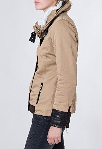 Pour Montant Avec Parka Femme D'hiver Et Coloris Kaki Veste Col Capuche Jck004 Plusieurs Enroulable Fourré Caspar q1wECgT01