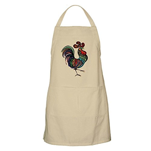 - CafePress Rooster Kitchen Apron with Pockets, Grilling Apron, Baking Apron