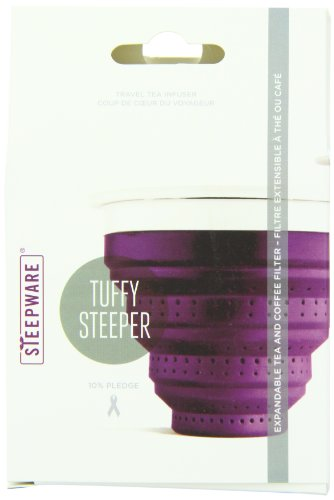 The TeaSpot Tuffy Steeper, Silicone Loose Tea Infuser, color: Violet, 3.2 Ounce Box
