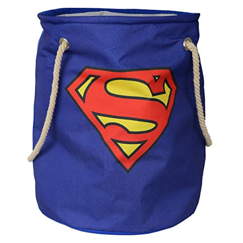 (Superman- Large Bin for Toys - Bedroom Organizer - Large Storage Bin with Large Capacity. Adult and Kids Room Décor, for All Ages, Blue)