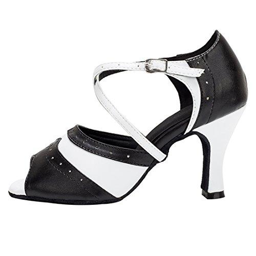 Miyooparkuk Black Mujer Salón Miyoopark hw180519 8cm Piel white De Heel BwfRdY