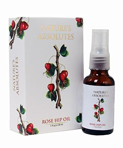 Nature's Absolutes Rosehip Oil - 100% Pure, Natural, Organic, Cold Pressed - 1Oz/30 ml - (with spray) The best Natural Moisturizer for skin Sage Apothecary