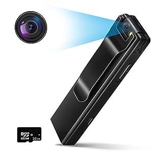 Flashandfocus.com 416Ey2jK8NL._SS300_ CHARMINER Body Camera, 1080P Mini Body Camera, Tiny Camera with Audio Recording Wearable, Small Security Camera Motion…