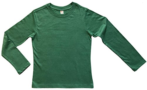Earth Elements Big Kid's (Youth) Long Sleeve T-Shirt Small Kelly Green Melange