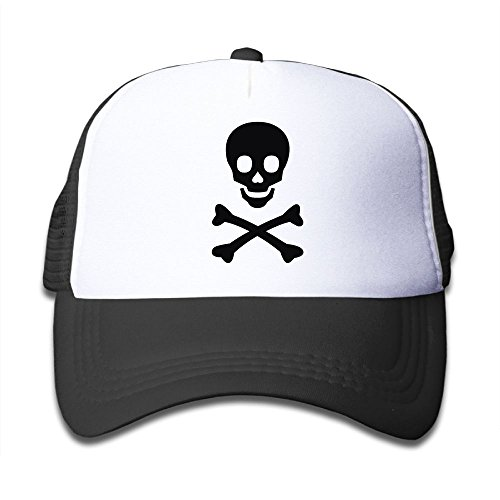 Dangerous Bone Skeleton Skull Icons Baseball Cap Child Mesh Hat For Boys Girls Printed Funny Youth Hip Hop Cool Adjustable Snapback Trucker Plain Flat Hats For Neo-Jazz,Street Jazz,Dance