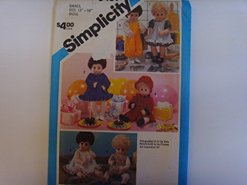"""Simplicity 6481 Doll Sewing Pattern 13"""" - 14"""" Tiny Tears 1984 Vintage Collectible"""