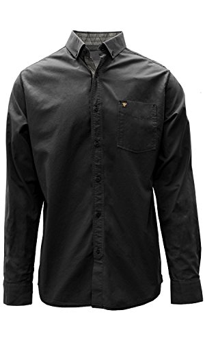 NHL Pittsburgh Penguins Adult Men Fountain Woven Cuff Button Down Shirt, XX-Large, Black