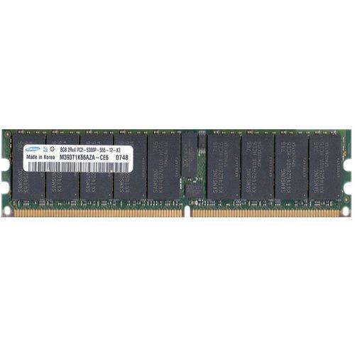 (SAMSUNG M393T1K66AZA-CE6 8GB DDR2 REG ECC PC2-5300 CL5 1GBX72 512MX4 1.8V 240P DIMM)