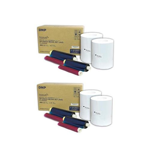 DNP 2x 4x6'' Dye Sub Media for DS620A Printer, 400 Prints Per Roll, 2 Piece by DNP