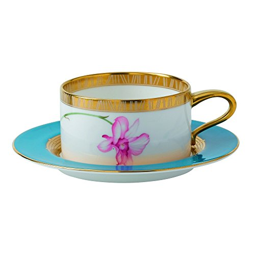 Wedgwood Low Orchid Tea Saucer, Multicolor