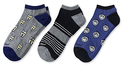 Life is Good No Show Socks (Pack 3), Jake/Rocket/Blue, One Size