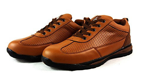 Brown Acciaio In Di Con Stivali Sicurezza Caviglia 41 Pelle Alla Da Uk7 Eur Per Scarpe Uomo Punta Lavoro Escursioni Nero SqxHnzw