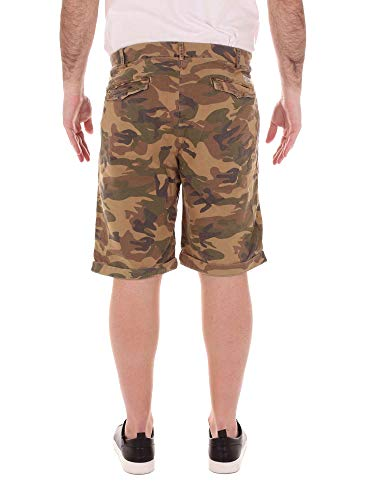 40weft Cotone Shorts Borderebe1281 Uomo Verde rqazrw