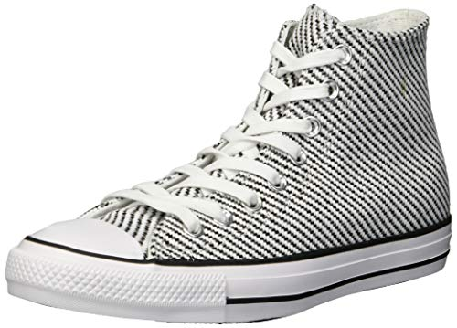 Converse Women's Chuck Taylor All Star Woven High Top Sneaker, White/Black/Mason, 9 M - Patent Top High Black