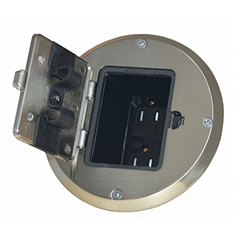 Hubbell 6239ni Nickel Floor Box Kit Finish Buy Online In