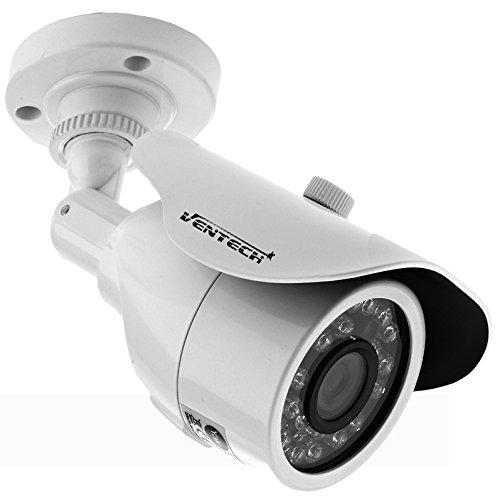 Ventech Outdoor-Indoor Bullet Camera with 36 IR Leds day-night Vision 95ft IR cut CMOS 800TVL 960h CCTV Video Metalic Waterproof Housing