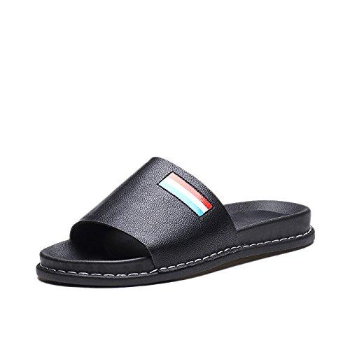 ZPPZZP Ms sandali estate piatta e un tessuto traspirante svago nero 35EU