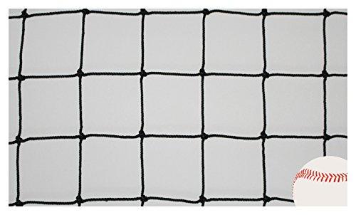 Goodwin Nets 8 Twisted Knotted Nylon 1 7//8 Baseball//Softball Backstop Net Barrier Netting #21 Black Square