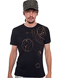 "<span class=""a-offscreen"">[Sponsored]</span>Men's Psychedelic T-Shirt Magic Circle Graphic Symbol Hypnotic Print Top"