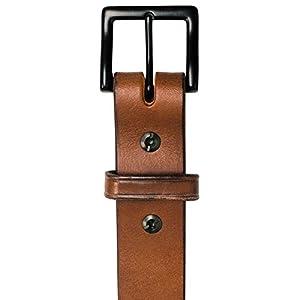 """Hanks Everyday - """"No Break"""" Thick Leather Belt - Mens Heavy Duty Belts- USA Made -100 Year Warranty - Oak - 50"""