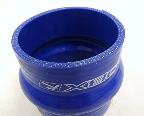 OBX Reinforced Silicone Hump Reducer Hose 2.5-3.0 Inch Blue