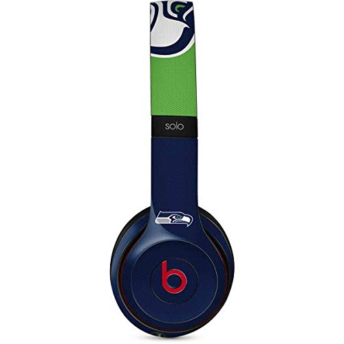 (Skinit Seattle Seahawks Zone Block Beats Solo 3 Wireless Skin - Officially Licensed NFL Audio Decal - Ultra Thin, Lightweight Vinyl Decal Protection)