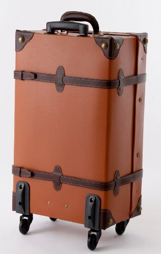 MOIERG Vintage Trolley Luggage suitcase 2tone Cotton Gray Medium (81-55046-12) by MOIERG (Image #4)