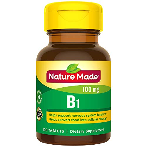 (Nature Made Vitamin B1 100 mg Tablets, 100 Count for Metabolic Health† (Packaging May Vary))