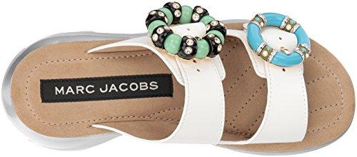 Marc Jacobs Womens Salie Verfraaid Sandaal Ivoor