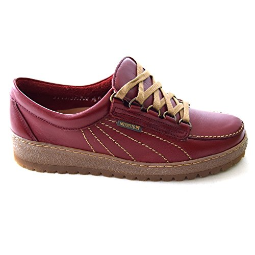 Mephisto Lady Blue Red Leather Womens 855 Maya Shoes nfqxgOwCH