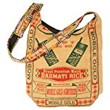 Earth Divas JZ-002 Cotton Jute Young and Fun Sling Women's Crossbody Handbag, Orange